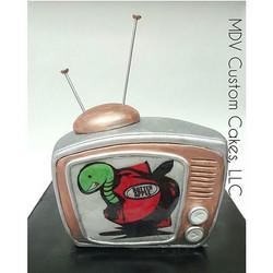Rotten Apple TV Cake _#rottenappletv #apple #rotten #tv #mdvcustomcakeboutique #mdvcustomcakes #west