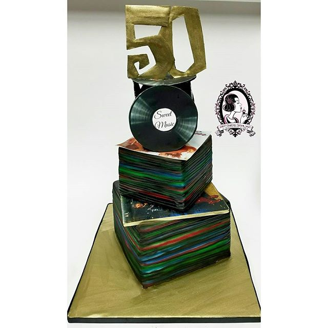 50th Birthday DJ Cake