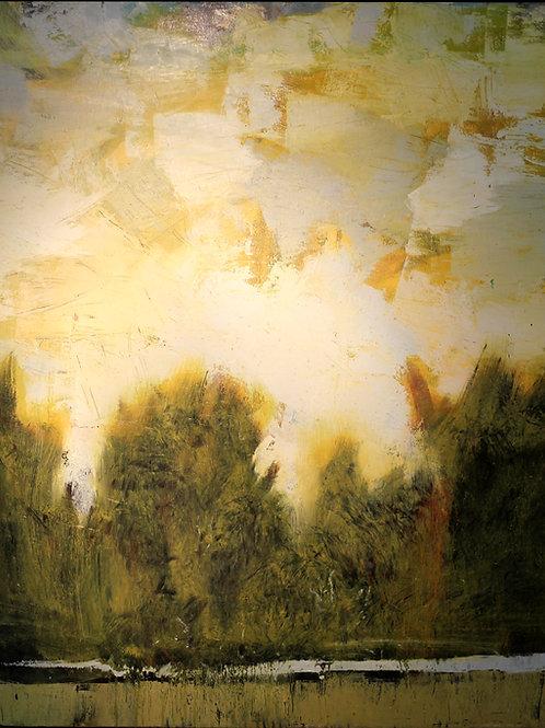 Les bois sont innocents 100 x 80 cm huile sur toile