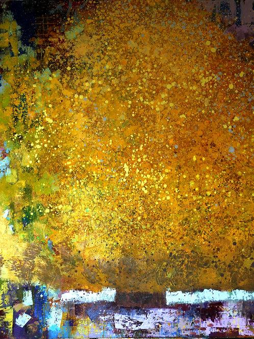 Robuste 120 x 100 cm huile sur toile