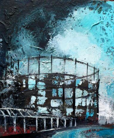 Zolferien 2 55 x 46 cm huile sur toile Collection particulière