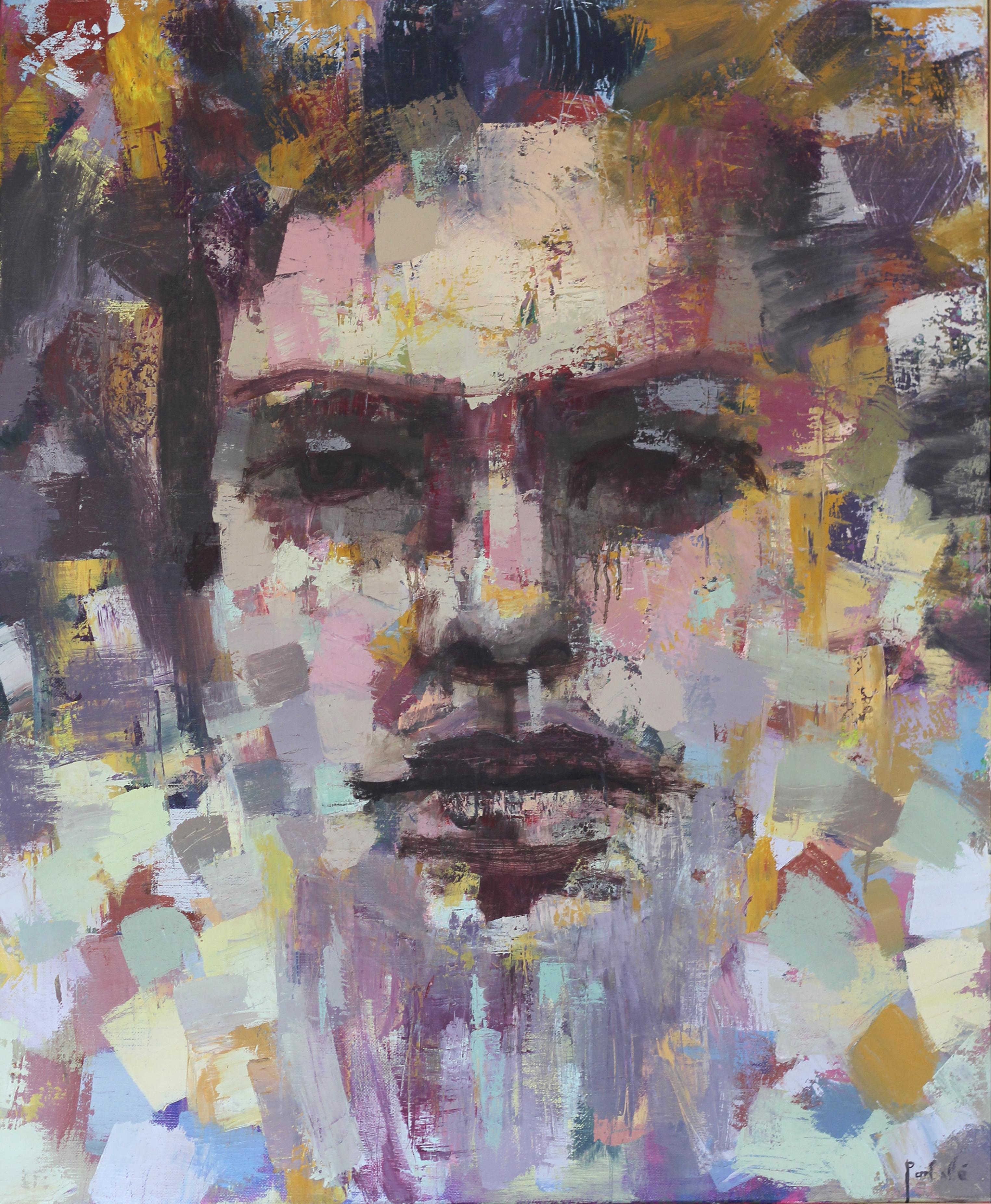 Intégration huile sur toile 120 x 100 cm