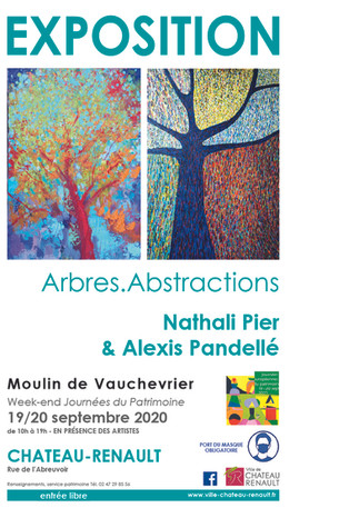 exposition arbres abstrations Chateau-Renault