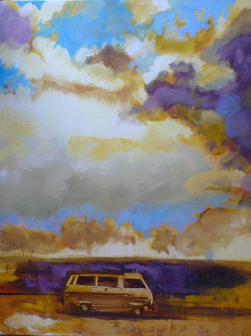 Odyssée 120 x 100 cm Huile sur toile