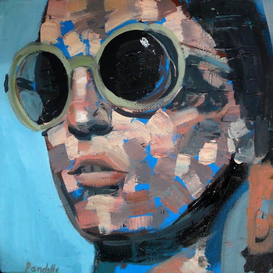 Jane Huile sur toile / oil on canvas. 20 x 20 cm Collection particulière