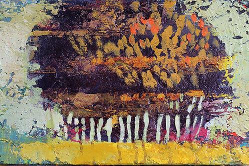 35 x 22 cm Huile sur toile