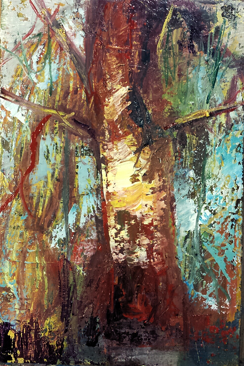 Sylve 33 x 22 cm Huile sur toile
