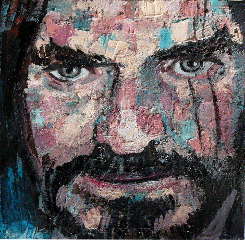 Charlie Bauer Huile sur toile / oil on canvas. 20 x 20 cm Collection particulière
