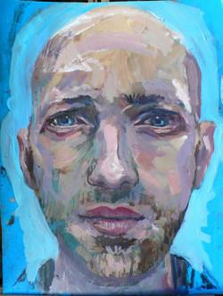 Julien Huile sur papier / oil on paper. 30 x 40 cm Collection particulière