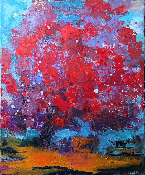 Rouge  55x 46 cm huile sur toile