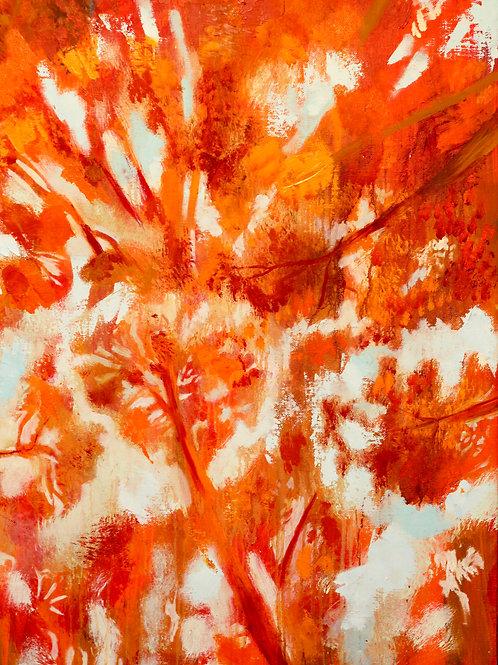 La timidité des arbres 100 x 81cm huile sur toile