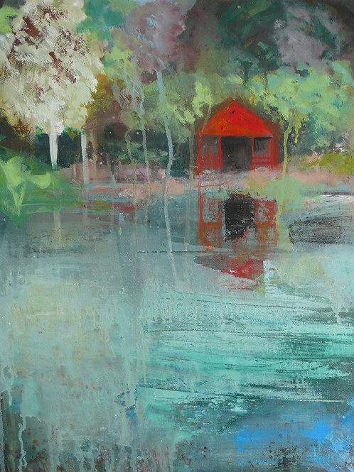 Au clair de l'eau  61 x 46 cm huile sur toile