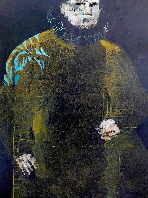 OMBRE 130 x 93 cm  Huile sur bois