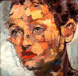 Gisèle huile sur toile 20 x 20 cm Collection particulière