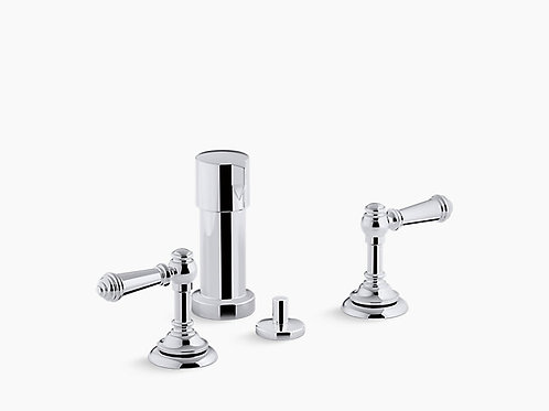 Artifacts® | Widespread bidet faucet with lever handles
