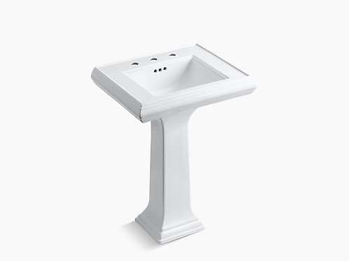 "Memoirs® | Classic 24"" pedestal bathroom sink with 8"" widespread faucet holes"