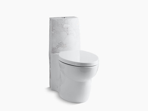 Empress Bouquet™ on Saile® | One-piece elongated dual-flush skirted toilet