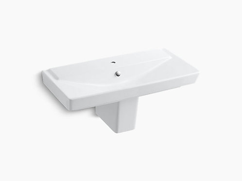"Rêve® | 39"" semi-pedestal bathroom sink"