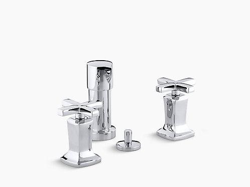 Margaux® | Vertical spray bidet faucet with cross handles