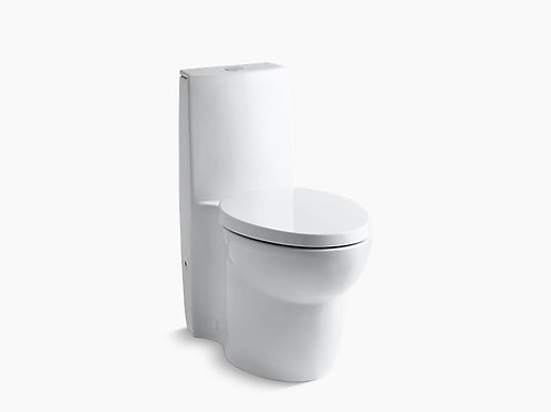 Saile® | Skirted one-piece elongated dual-flush toilet with top actuator