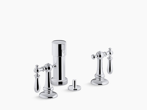 Artifacts® | Widespread bidet faucet with swing lever handles