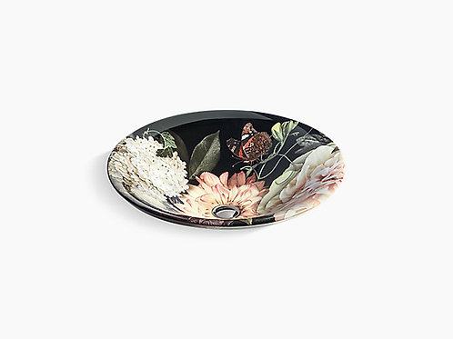 Dutchmaster | in Blush Floral™ on Carillon® Round Wading Pool® vessel sink