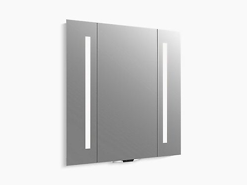 Verdera ™ | مرآة مضاءة بالصوت مع Amazon Alexa ، 34 بوصة × 33 بوصة ارتفاع