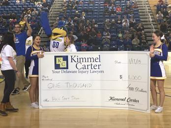 University of Delaware Student Wins $1000 in Kimmel Carter Half-Court Shot Contest