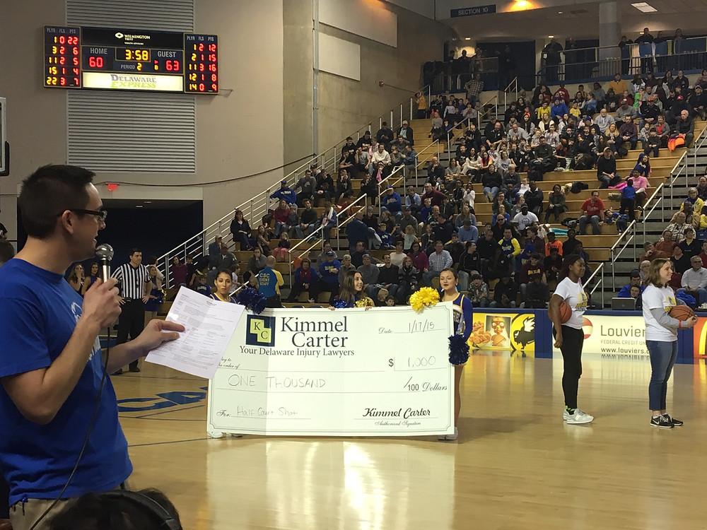 University of Delaware Shot Contest Kimmel Carter