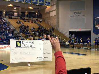 Kimmel Carter Sponsors UD Basketball Half-Court Shot Contest