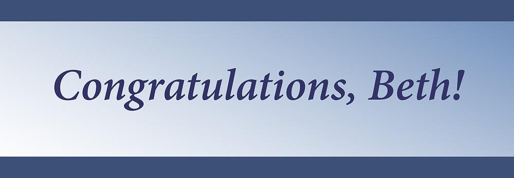 Congratulations Beth Lineberry
