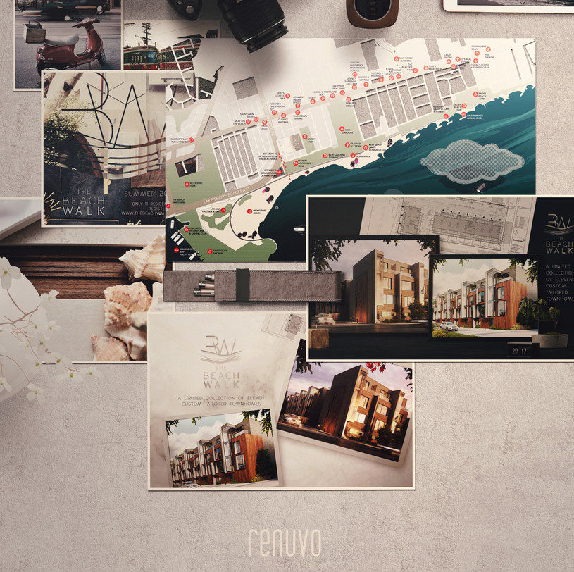 Complete branding and visual communication package for a luxury real estate development.