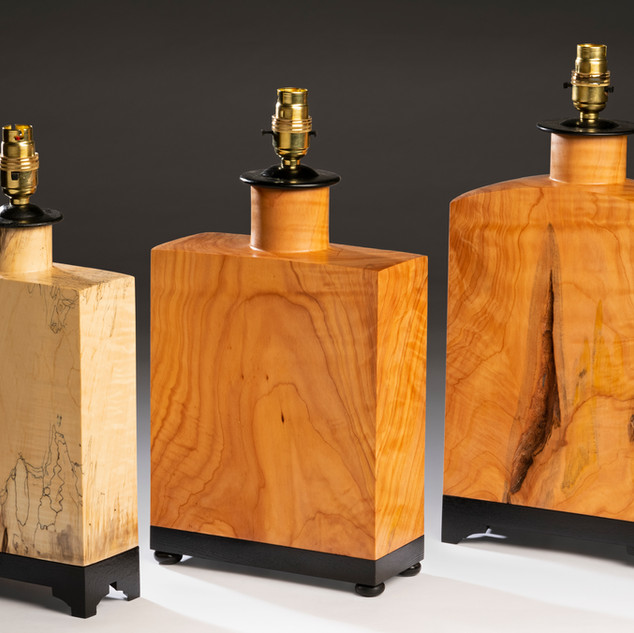 Oriental inspired lamps in Horse Chestnut and Japanese Cedar