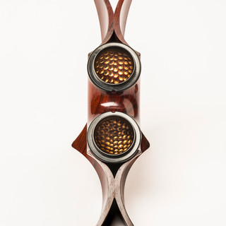 Internal detail of Twin Arc box in Cocobolo