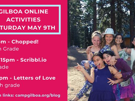 Gilboa Activities: Saturday May 9th