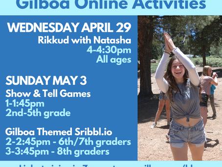 Activities This Week - Rikkud (Wednesday 4pm) & Sunday Kvutzah Activities