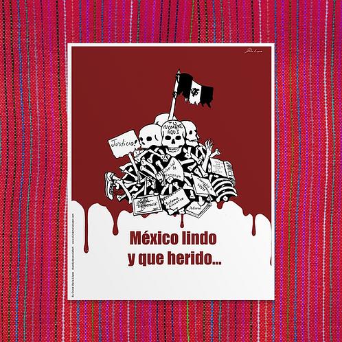 Mexico Lindo y Que Herido - Poster