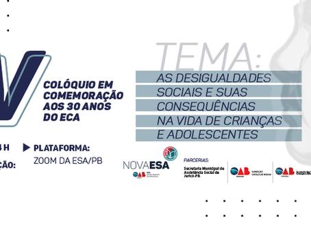 IV Colóquio em comemoração aos 30 anos do Estatuto da Criança e Adolescente (ECA)