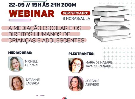 Webinar: A Mediação Escolar e os Direitos Humanos de Crianças e Adolescentes