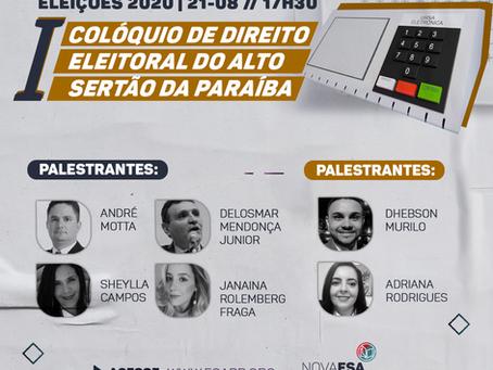 I Colóquio de direito eleitoral do alto sertão da Paraíba - Eleições 2020