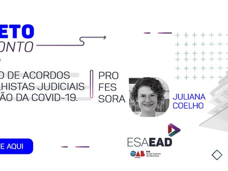 REVISÃO DE ACORDOS TRABALHISTAS JUDICIAIS EM RAZÃO DA COVID-19