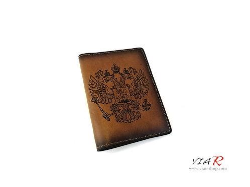 Паспортная обложка с двуглавым орлом и надписью