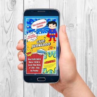 Convite para Celular Super Boy