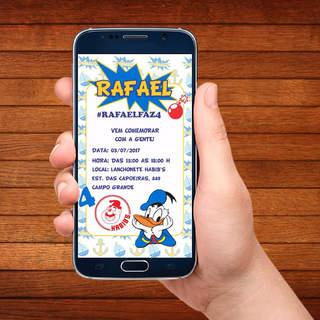 Convite para Celular Pato Donald