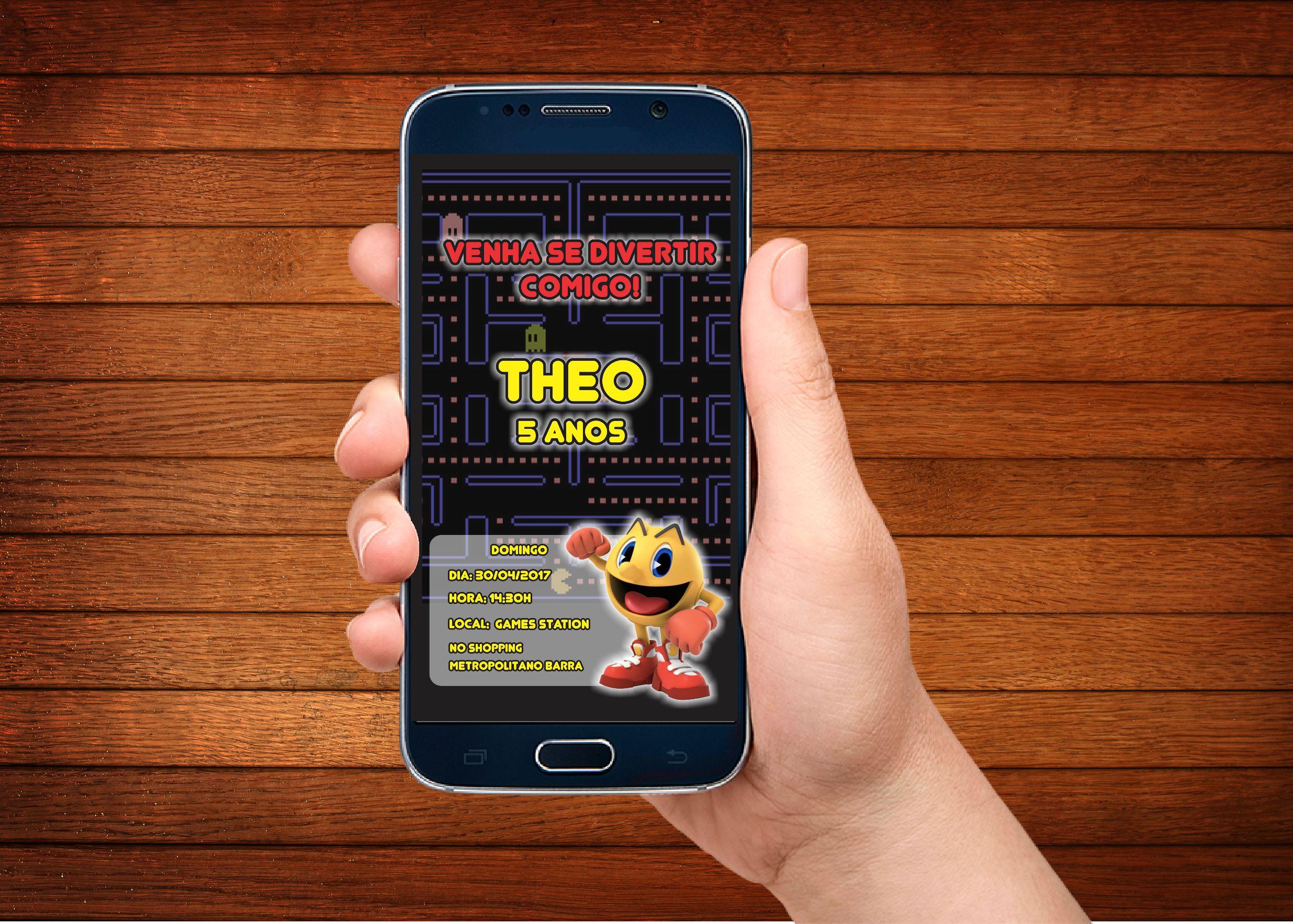 Convite Pac Man
