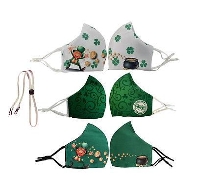 Saint Patrick Face Mask 3 Pack