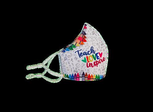 Teacher Mask | Teach Love Inspire | Safety Reusable & Washable