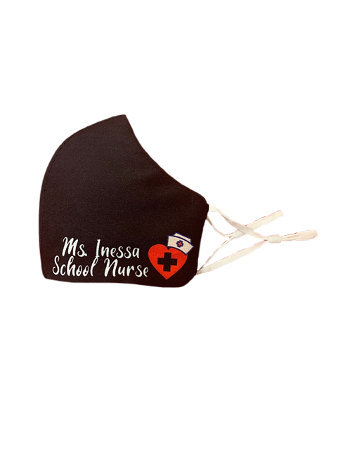 Customized Nurse Face Mask with Nose Wire| Reusable Washable Anti Dust Mouth Fa
