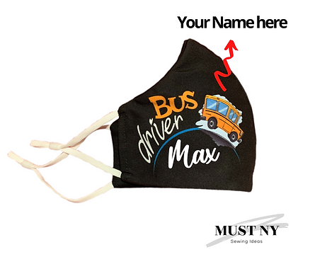 Bus Driver Face Masks   Option to be Customized