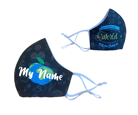 Customized Change the World | Reusable Washable Anti Dust Mouth Fa